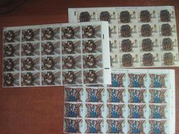 GREAT BRITAIN - 1974 Christmas Part Sheets 20 Pcs Each   MNH - 1952-.... (Elizabeth II)