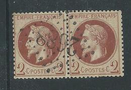 Timbre France Oblitéré N° 26 Paire - 1863-1870 Napoléon III Lauré