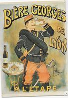 """CPM - Publicité - """"Bière Georges De Lyon - A L'Etape"""". - Publicité"""