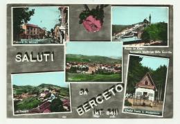 SALUTI DA BERCETO - VEDUTE VIAGGIATA FG - Parma