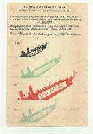 REGIA MARINA - TONNELLAGGIO DEL MERCANTILE ITALIANO AFFONDATO DAI SOMMERGIBILI ... - NV FP - War 1914-18