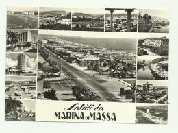 SALUTI DA MARINA DI MASSA  - VIAGGIATA FG - Massa