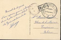 CP FM Cachet Forces Françaises De L'intérieur 4e Bataillon Le Vaguemestre FFI CAD Montlouis 21 2 45 Pyrénées Orientales - Postmark Collection (Covers)