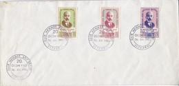 SAIR MEHMET AKIF ERSOY 20 OLUUM YILI, ISTANBUL OBLITERE. TURKIYE ENVELOPE-BLEUP - 1921-... Republiek