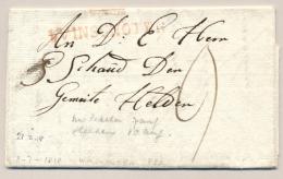 Nederland - 1818 - Gekapt Stempel WINSCHOTEN Op Complete Vouwbrief Naar Den Helder - Nederland
