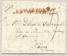 Nederland - 1815 - Langstempel LEUWAARDEN Op Complete Vouwbrief Naar Paris / France - Niederlande