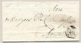 Nederland - 1795 - 3-Stuiver Stempel Op Gedateerde Omslag Van Den Haag Naar Amsterdam - Nederland