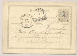 Nederlands Indië - 1879 - Kleinrond En Puntstempel TJIANDJOER Op Briefkaart G4 - Na Posttijd - Naar Bogor - Nederlands-Indië
