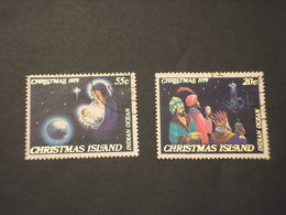 CHRISTMAS - 1979 NATALE RE MAGI  2 VALORI - TIMBRATI/USED - Christmas Island