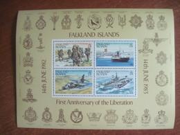Falkland Islands 1983 Victory Anniversary Of Falklands War S/S  MNH - Falkland Islands