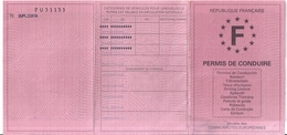 PERMIS DE CONDUIRE -RF-TOULON VAR  2002 - Zonder Classificatie