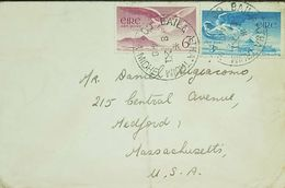O) 1948 IRELAND-EIRE, ANGEL VICTOR OVER CROAGH PATRICK SCOTT AP1 6 P, - ANGEL OVER LOUGH DERG 3 P, TO USA - 1937-1949 Éire