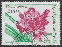 Ivory Coast SG1056 1991 Orchids 200f Good/fine Used [20/19244/1D] - Ivory Coast (1960-...)