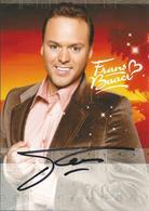 RB - Frans Bauer - Niet Gelopen Maxi Kaart - Authentieke Handtekening - Autographes