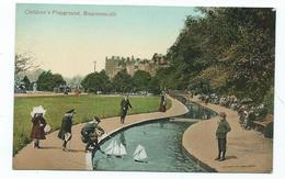 DORSET POSTCARD 1930S Childrens Playground  Bournemouth  Unused Valentines - Bournemouth (from 1972)