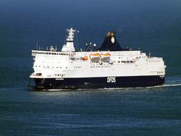 7X5 PHOTO OF CALAIS SEAWAYS DOVER 6 5 18 - Boats