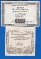 Assignat  2  Billets - Assignats & Mandats Territoriaux