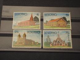 LESOTHO - 1980 NATALE CHIESE  4 VALORI - NUOVI(++) - Lesotho (1966-...)