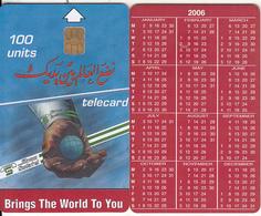 SUDAN - Calendar 2006, Sudatel Telecard 100 Units, Sample(no CN) - Soedan