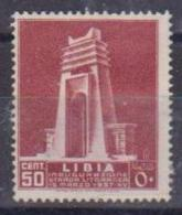 COLONIE ITALIANE LIBIA 1937 STRADA LITORANEA LIBICA SASS. 140 MLH VF - Libye