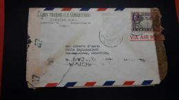 Enveloppe Curacao Circulé Avec Censure 1944 Avec Matasello Un Avion En Retard - Antillen