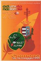Cremona 1999 - 72° Adunata Nazionale Alpini - - Patriottiche