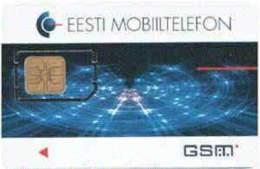 ESTONIA GSM : EST02E 18 PIC Laserlights  1996 USED - Estonia