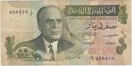Túnez - Tunisia 1/2 Dinars 15-10-1973 Pick 69.a Pick 1655 - Tunisia