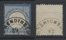 1872 - 7K AZZURRO (scudo Aquila Piccolo) Vedere Foto - Germania