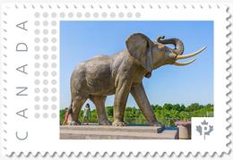 ST. THOMAS, Ontario. JUMBO The ELEPHANT MEMORIAL Photo/Personalized Postage Stamp MNH Canada 2018 [p18-05sn6] - Photography