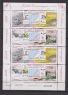 1999-MONACO- N°2205/2206** 50 ANS D'ECONOMIE  EN FEUILLET DE 2 PAIRES - Blocks & Sheetlets