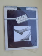 Paire De Bas Nylon VOILE  VINTAGE Neuf Jamais Porté , LE BOURGET  Couleur NOIR  , Taille 1 , Années 60/70 - Tights & Stockings