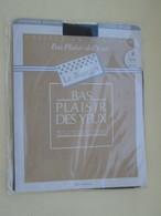 Paire De Bas Nylon Mousse  VINTAGE Neuf Jamais Porté , LE BOURGET  Couleur NOIR  , Taille 3 , Années 60/70 - Tights & Stockings