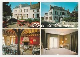 41 Maslives Vers Chambord Blois Bar Hôtel Restaurant L'Orée De Chambord En 4 Vues Postée De Bracieux De 1987 - Chambord