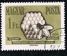 Hongrie Magyar European Honey Bee 1958 Yvert N°HU 1241 - 1 Ft - Forint OB - Hongarije