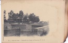 PONT DE VAUX 01 AIN PASSERELLE DU CANAL ET TRAMWAY P.V.F. BELLE CARTE RARE !!! - Pont-de-Vaux