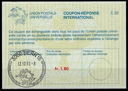 UPU BERN / WELTPOSTVEREIN Intern. Reply Coupon Reponse Antwortschein IRC La26A  1,40 FRANC  3000 BERN 15  Special Cancel - U.P.U.