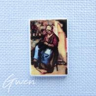 Feve Peintre Pissaro La Mère Jolly Tableau Peinture Musée Art Miniature - Charms