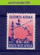 Nev022 FAUNA VOGELS FLAMINGO BIRDS VÖGEL AVES OISEAUX SOUTH WEST AFRICA 1961 PF/MNH - Flamingo