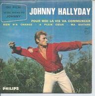 """CD  4 TITRES - JOHNNY HALLYDAY -   """" POUR MOI LA VIE VA COMMENCER """" +  3 - Music & Instruments"""