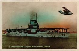 BATEAU - MARINE MILITAIRE FRANCAISE PORTE AVIONS BEARN - Warships