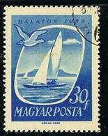 Hongrie Magyar Post Sailboat On Lake Balaton 1959 Yvert N°HU 1303 - 30 Fillér OB - Hongarije