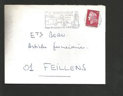 FLAMME DE SENNECEY LE GRAND SAONE ET LOIRE 1969 - Oblitérations Mécaniques (flammes)