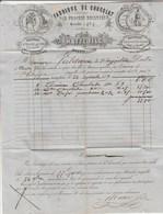 Facture 24/9/1859 MATTE Fabrique De Chocolat MONTPELLIER Hérault à St Hippolyte Gard - Timbre Cachet Postal - 1800 – 1899