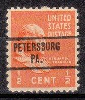 USA Precancel Vorausentwertung Preo, Locals Pennsylvania, Petersburg 734 - Vereinigte Staaten