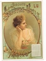 THEME PUBLICITE BISCUITS LEFEVRE UTILE CALENDRIER 1894 - Publicidad
