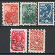 Russia 1939-43 Unif. 734/37A Usati/Used VF/F - 1923-1991 URSS