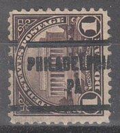 USA Precancel Vorausentwertung Preo, Locals Pennsylvania, Philadelphia 571-205 - Vereinigte Staaten