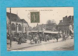 Sainte-Savine, 1917. - Le Marché Place De L'Église. - Autres Communes