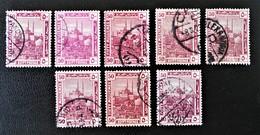 PROTECTORAT BRITANNIQUE - CITADELLE DU CAIRE 1922 - OBLITERES - YT 67 - VARIETES DE TEINTES ET D'OBLITERATIONS - Égypte